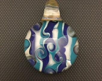SALE // Color Twist // Glass Pendant