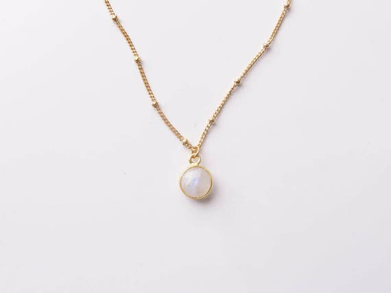 Small Moonstone Necklace