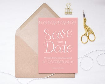 Charlotte Collection | Printed Save the Date | Floral Invitation | Floral Wedding | Garden Wedding