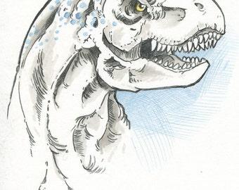 Tyrannosaurus Rex Head Drawing