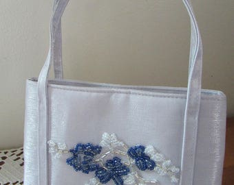 Periwinkle Beaded Evening Bag