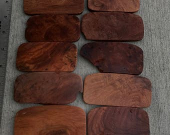 Amboyna Burl Pieces off cuts,highly figured assorted amboyna burl wood,Wood earnings,Knife Scales handles,Wood Pendant,Wood Ring Jewelry A3