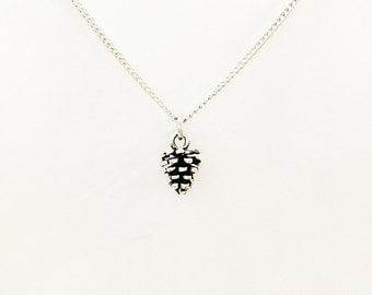 Pinecone Necklace // Subtle Natural Jewelry // Pinecone // Charm Necklace // Woods, Nature, Tree // Tree Jewelry // Leaf