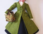 Mary Poppins Vintage Style Cloth Doll