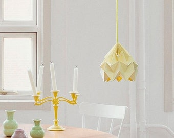 Moth origami lampshade canary yellow