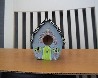 Small Grey Birdhouse # 251