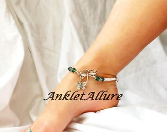 BFF Jewelry Beach Anklet Dragonfly Ankle Bracelet ButterflyAnklet Body Jewelry