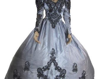 Gothic Wedding Dress Steampunk Victorian Ball Gown Vampire Masquerade Mardi Gras