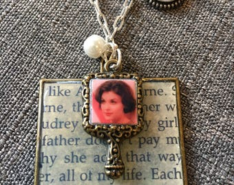 Audrey Horne diary Necklace. One of a kind featuring Laura's Secret Diary excerpt. SALE