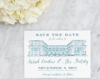 Rosecliff Mansion Save the Date
