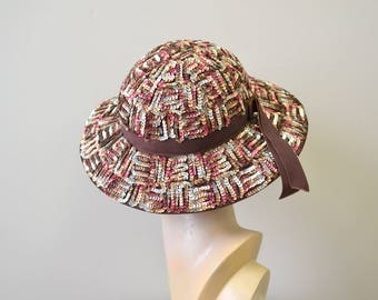 1950s Amy Sequinned Hat