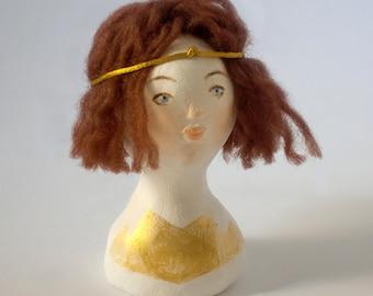 Doll Bust Sylvie / Gold Pattern
