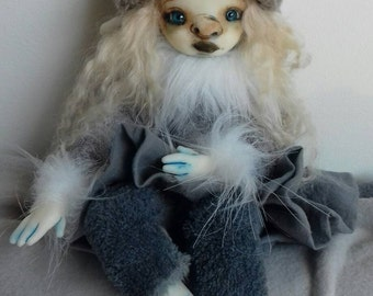Marine  - Ooak articulated art doll (WORLDWIDE SHIPPING INCLUDED)