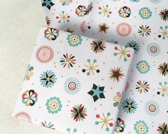 Christmas Wrapping or Craft Paper Sheet Scandinavian Snowflake Design