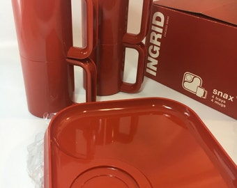 Engrid chicago kartell designer picnic on the go compact camping dish set small apartment modern mom gift 80s