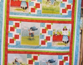 "The Traveller Quilt Top, 44"" x 59"", Traveler Collection fabrics, Quilting Treasures"