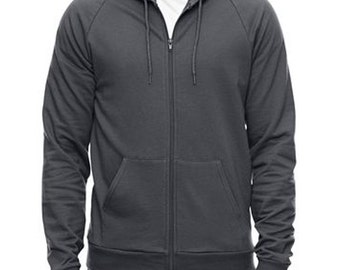 Mens hoodie sweatshirt Sale, American Apparel asphalt- S, M, L- Worldwide shipping