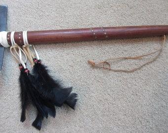Vintage Tomahawk, War Axe, Camping, Tomahawk Axe, Camp Axe, Rendezvous, Mountain Man, Metal Blade, Hard Wood Handle, Double Blade   #T11