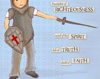 Warrior Boy - Armor of God - Ephesians 6:14-17