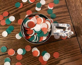 Viva Mexico! | Red, Green, and White Tissue Paper Confetti | Circles | great for Cinco de Mayo, Fiesta or international celebration