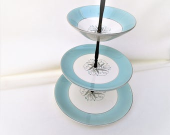Vintage Cookie Display | 3 Tier Serving Tray | Cupcake Stand | Display Stand | Tidbit Tray
