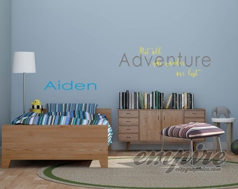 Not all who wander are lost vinyl decal, adventure decal, inspiration decals, kids decals, nursery wall decals, travel wall decor