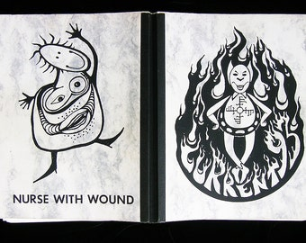 NURSE with WOUND / CURRENT 93 Book - Rare One of a Kind Item /w Double C. D. Set included