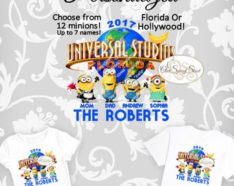 Universal Studios Minion Iron On Transfer Printable Family Vacation PERSONALIZED Matching Family Vacation Trip Group Digital Item # 2070