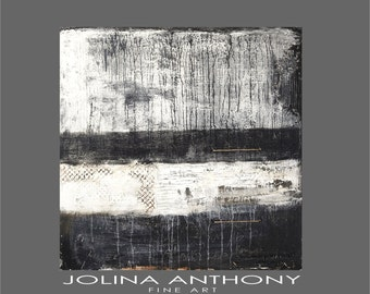 black and white  Painting  textured Acrylic Painting large abstract painting   from Jolina Anthony