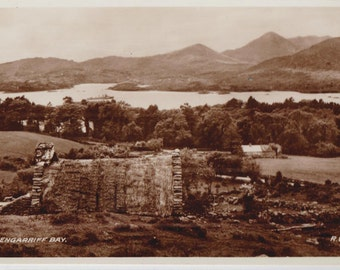 Glengarriff bay - Ireland - Antique postcard - Vintage photographie - Free shipping Canada USA