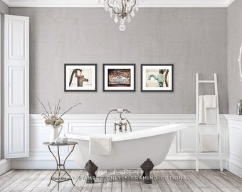 Rustic Bathroom Wall Decor Bathroom Wall Art Set Of Prints - Bathroom wall decor