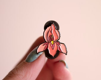 Feminist Enamel Pin Pussyflower- Vagina Pin Flower Feminist Gift Women's Rights Reproductive Rights Lapel Pin Girl Power Art