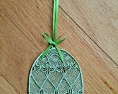 Easter Machine Embroidery Egg Lace Ornament/Bookmark, Easter Egg Ornament/Bookmark, Easter Gift, Freestanding Lace Egg Ornament