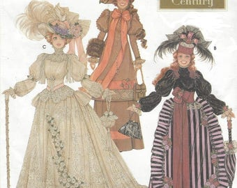 """Turn of the Century Doll Clothes for Fashion Dolls Victorian Clothes for 11 1/2"""" Dolls Simplicity Sewing Pattern 9522 UnCut"""