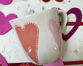 Pink Heart Mugs - Perfect Gift for Valentine's Day