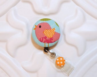 Cute Bird Retractable Id Badge Holder - Nurse Badge Reel - Badge Reel - Teachers Gifts