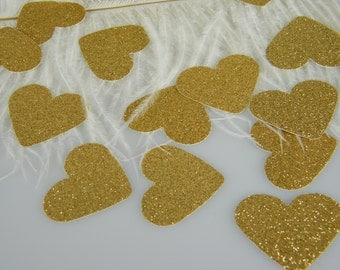 Confetti Gold Glitter Hearts   Gold Wedding   New Years Eve Party Decorations   Princess Party Decor   Gold Party Decorations