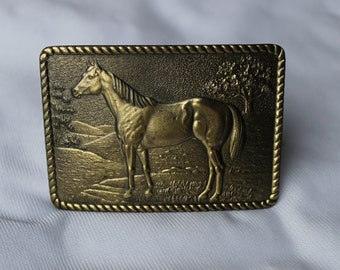 1979 BRASS HORSE Belt BUCKLE Great American Chicago