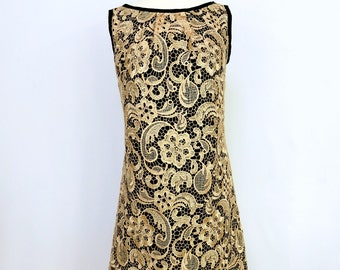 Gold Lace Dress - Reversible - Lace Dress - Sample Sale