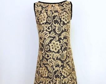 Gold Lace Dress - Reversible - Lace Dress - Sample Sale