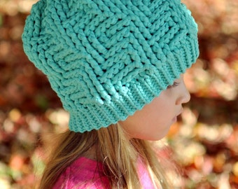 Crochet Pattern for Chunky Thunderstruck Slouch - 5 sizes, baby to large adult - Welcome to sell finished items