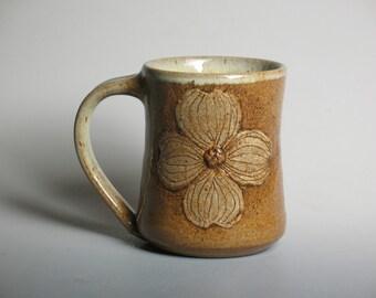 mug with dogwood flower