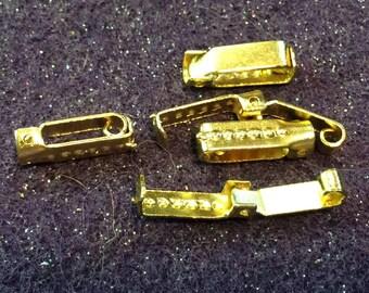 Vintage Bracelet Clasps Gold Fold over circa 1970s QTY - 1