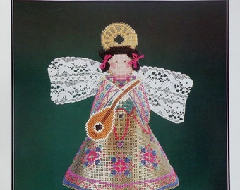 Astor Place   Perforated Paper   GOLDEN ANGEL   Tree Topper   Counted Cross Stitch Pattern   Chart