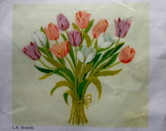 Gerda Bengtsson | 30-6190 TULIPANER TULIPS Danish | Counted Cross Stitch | Kit By | Haandarbejdets Fremme