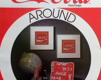 50%OFF | The Graph Menagerie | COCA-COLA Around The World | 7 Languages | Japanese | Hebrew | Chinese | Belgium | Cross Stitch Pattern