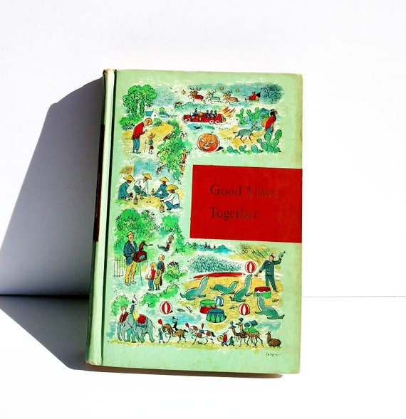 Good Times Together: Through Golden Windows Vintage 1958 Illustrated Children's Book
