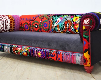 Chesterfield Patchwork Sofa 1