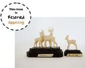 RESERVED - 2 Vintage Deer Figurines