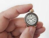 Vintage Miniature Alarm Clock Dollhouse Retro Style Made of Brass